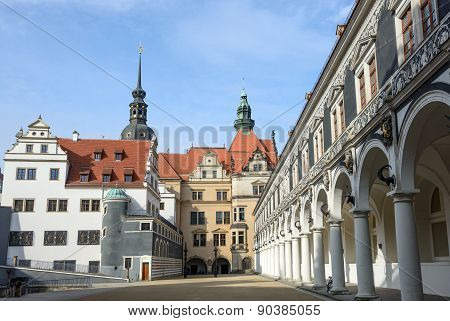View Of Stallhof Toward Chancellery Building And George Gate, Dresden.