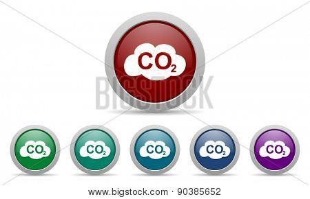 carbon dioxide icon co2 sign  poster