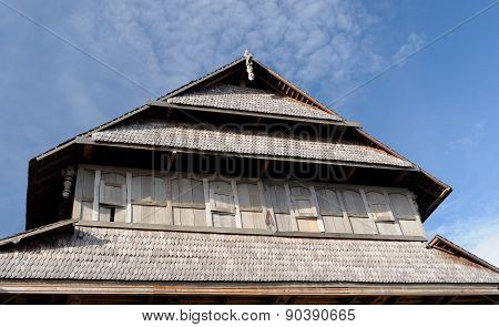 Wooden Rumah Istana Sumbawa Palace Of The Sultan In The Sumbawa Besar Town In Indonesia