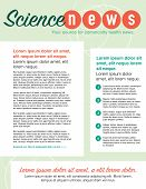 Page layout newsletter for use with business or nonprofit poster