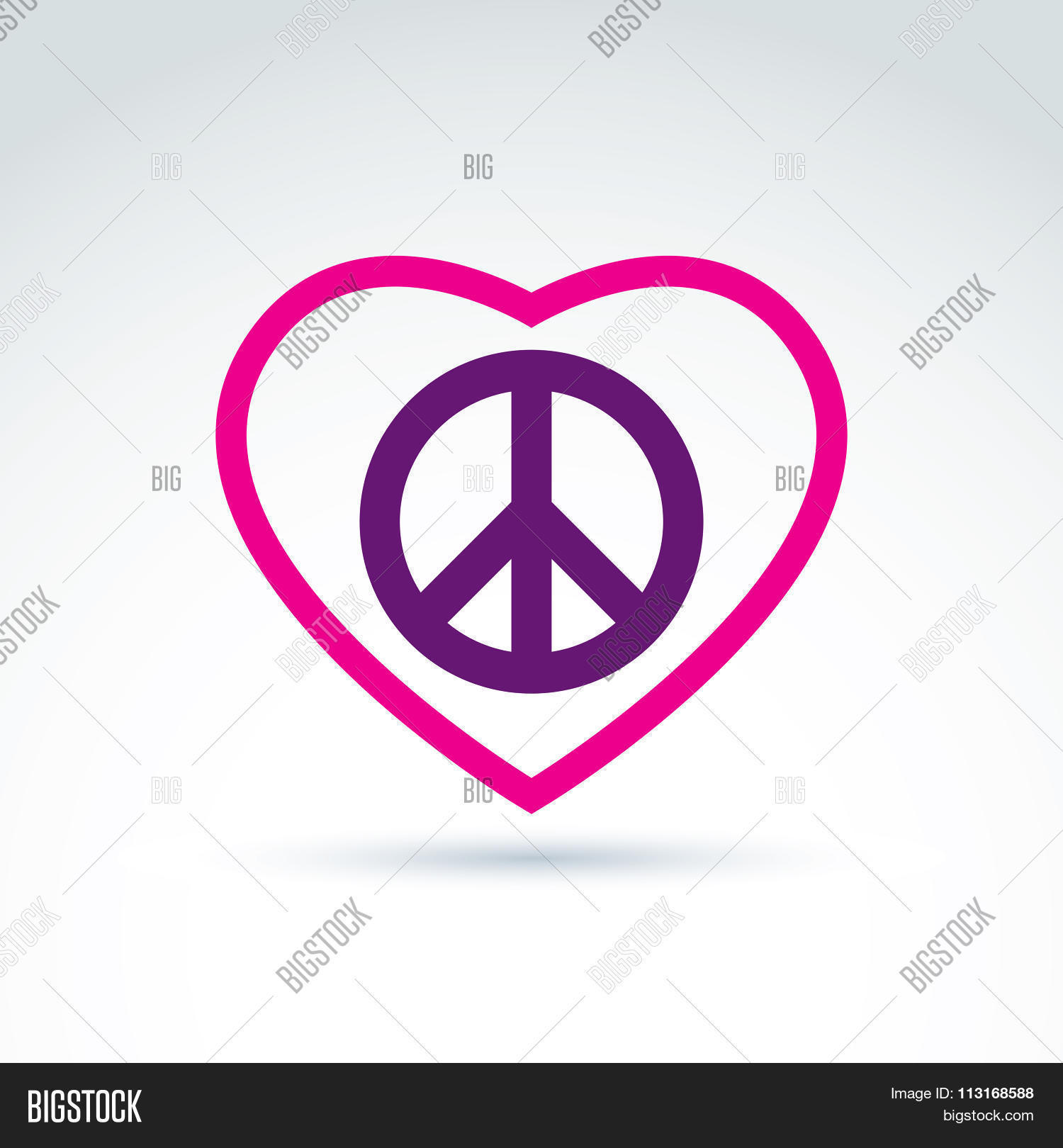 Peace Love Theme Vector Photo Free Trial Bigstock