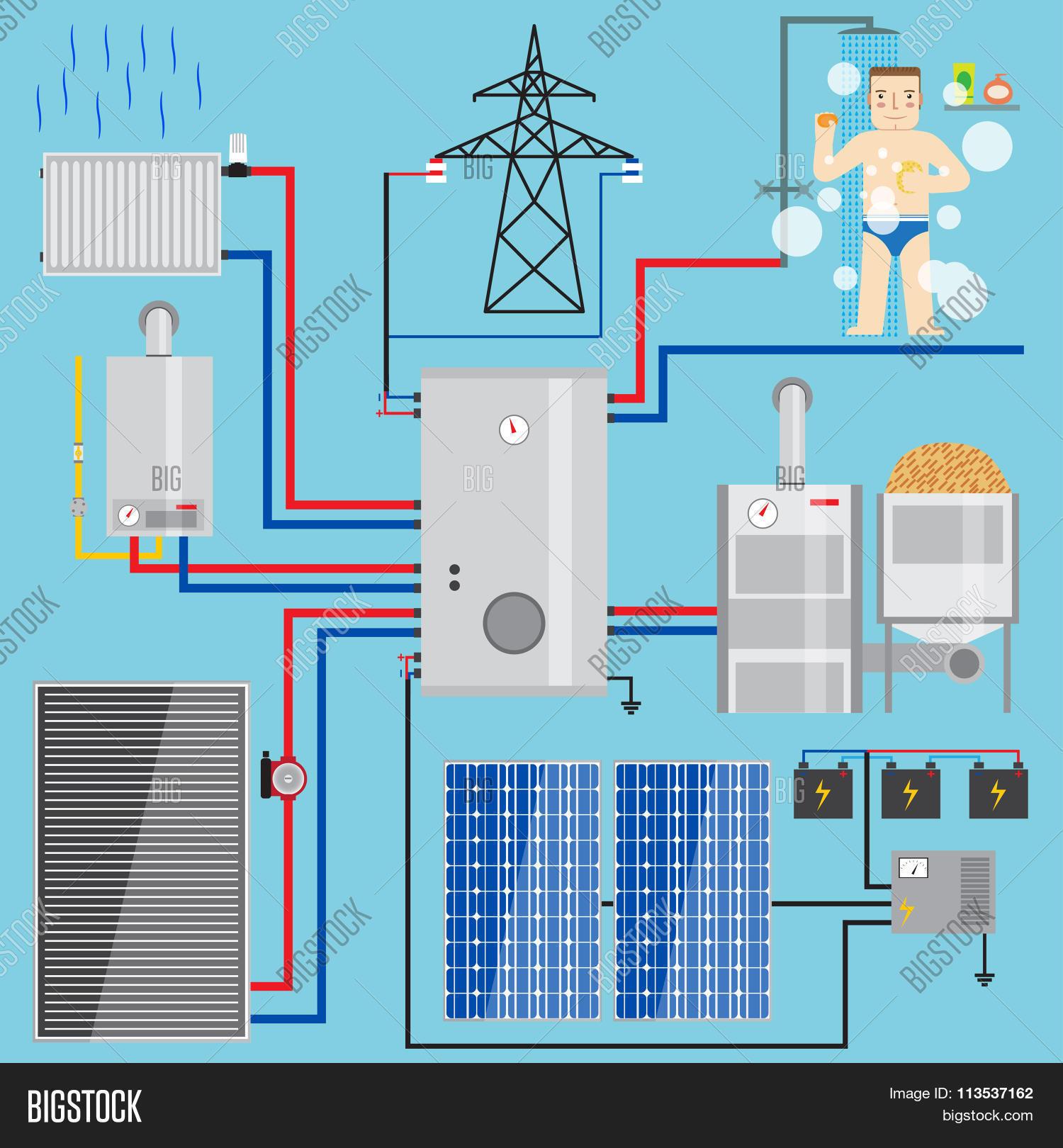Energy-saving Heating Vector & Photo (Free Trial) | Bigstock