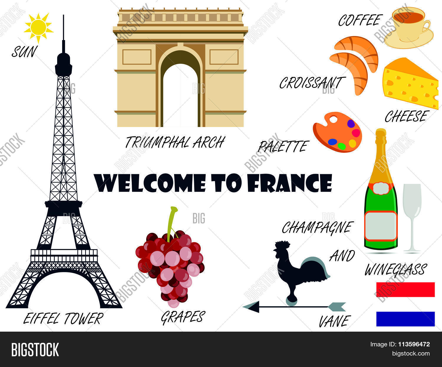 Welcome France Vector Photo Free Trial Bigstock