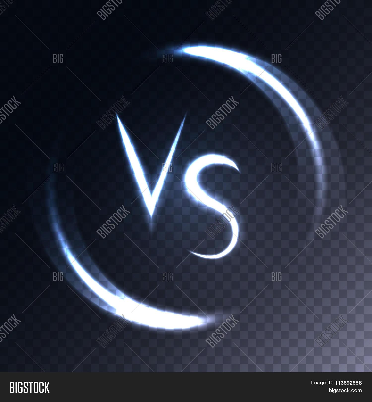 Versus Letters Vector Photo Free Trial Bigstock