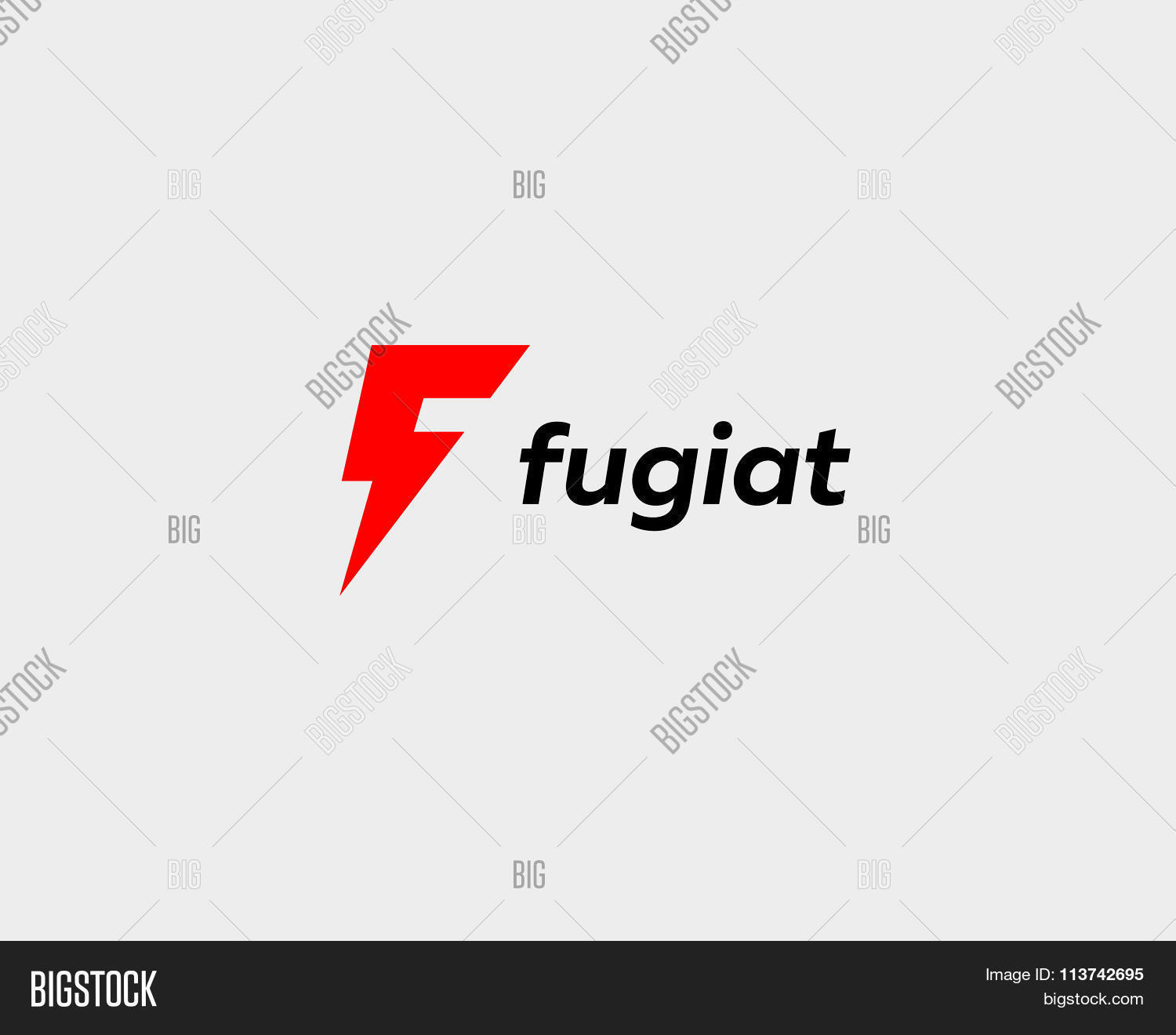 Abstract Letter F Logo Dynamic Unusual Font Universal Fast Speed Fire Moving Quick Energy Create A Lightbox