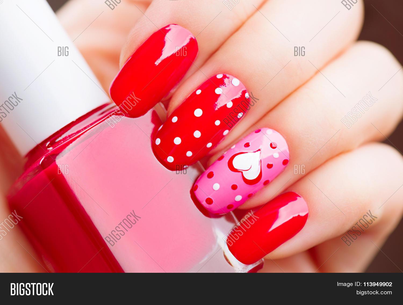 Valentine Nail Art Image Photo Free Trial Bigstock