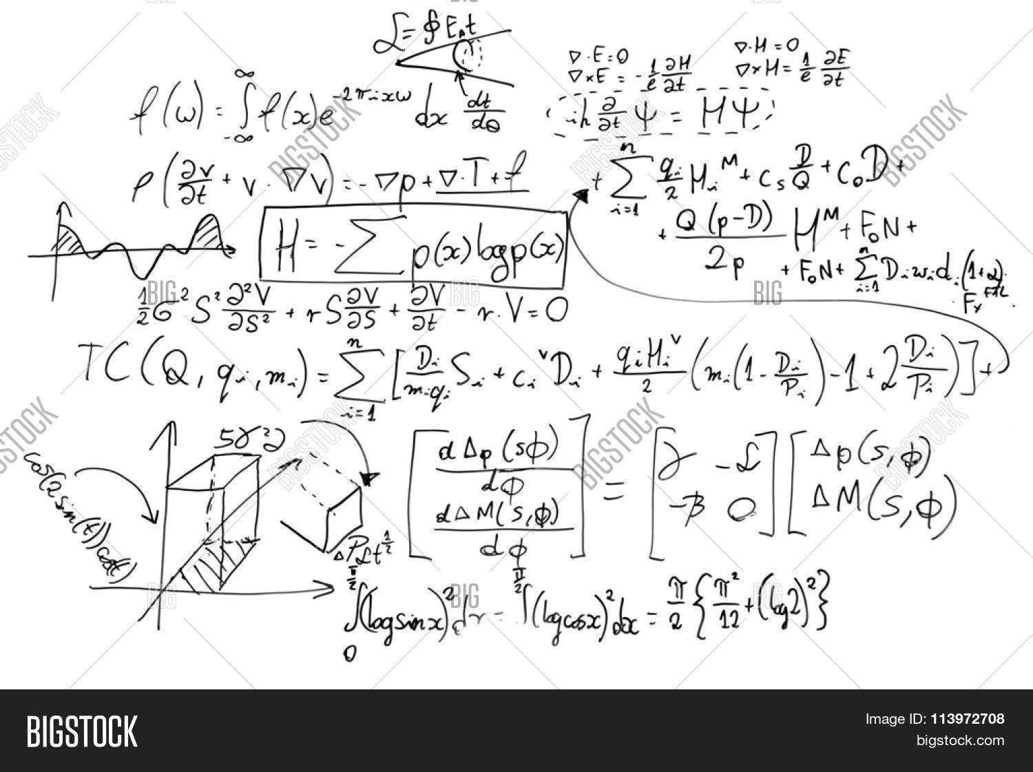 Complex math formulas on whiteboard image photo bigstock complex math formulas on whiteboard mathematics and science with economics concept real equations biocorpaavc
