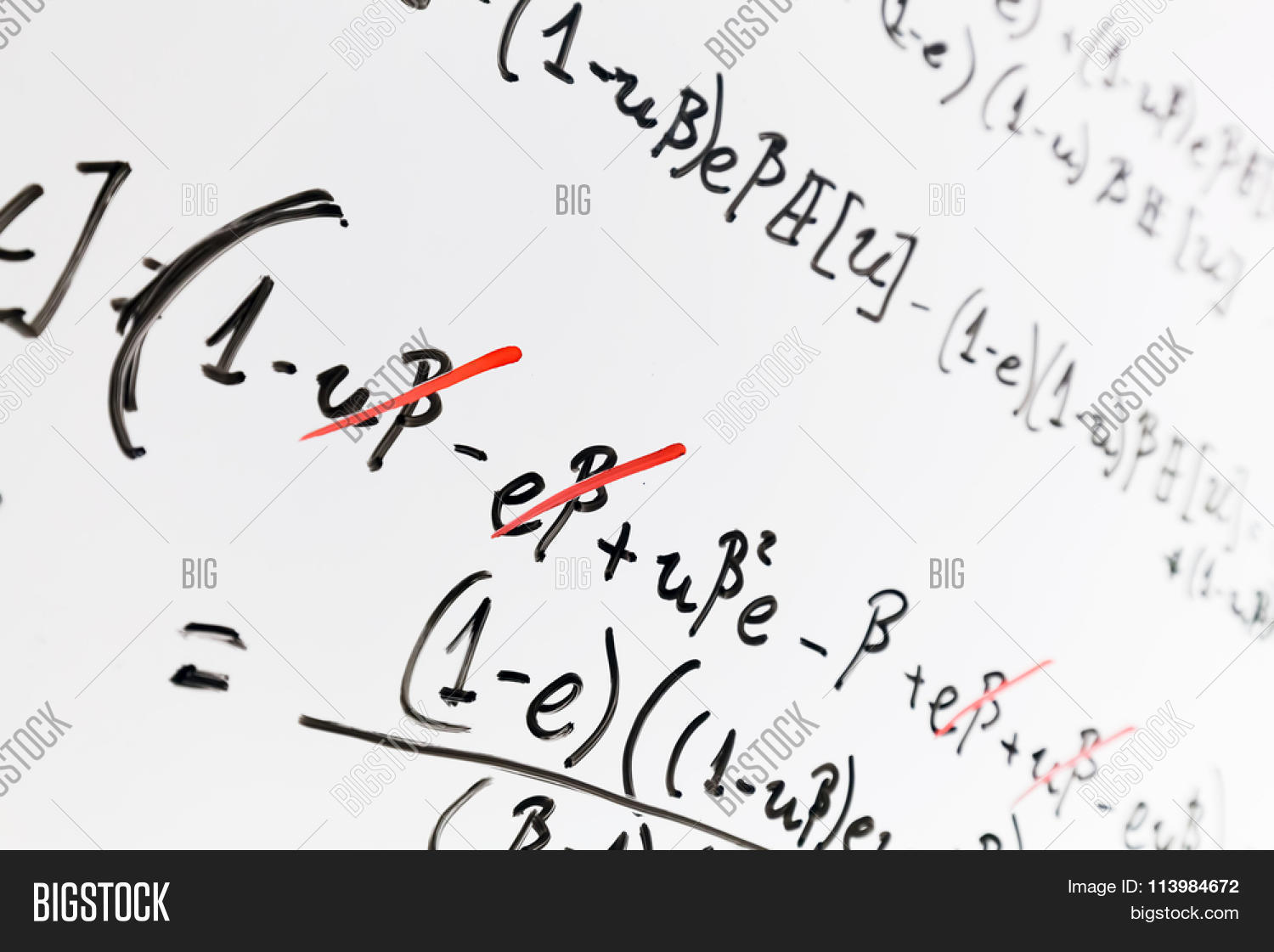 Complex math formulas on whiteboard image photo bigstock complex math formulas on whiteboard mathematics and science with economics concept real equations buycottarizona Images