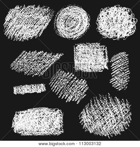 Set Of Chalk Texture.