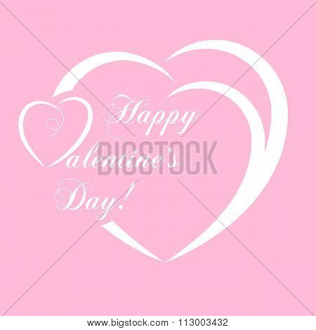Banner For Design Posters Or Invitations On Valentine's Day With Cutest Abstract Symbol Heart An