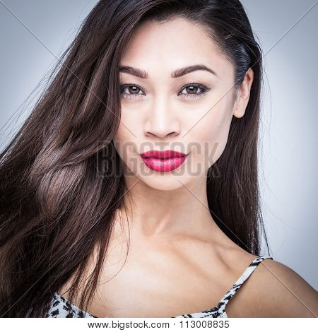 Beautiful Asian Woman Fashion Portrait