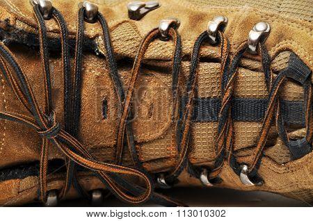 Sturdy hiking boots