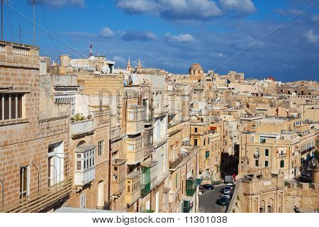 View of Valletta old town streets. Malta poster