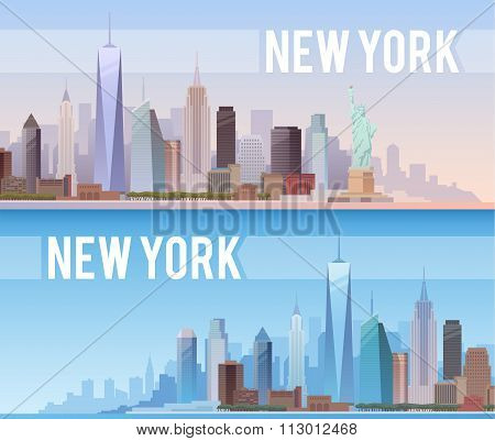 New York. Vector banners.