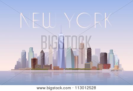 New York. Vector illustration.
