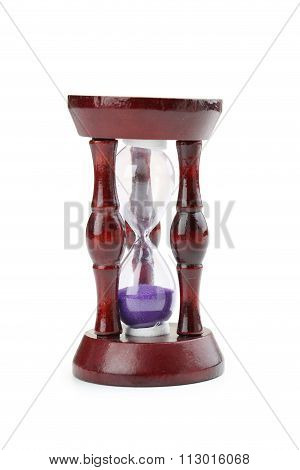 Hourglass Isolated On A White