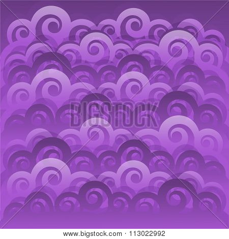 Abstract Swirl Wave Japanese Background