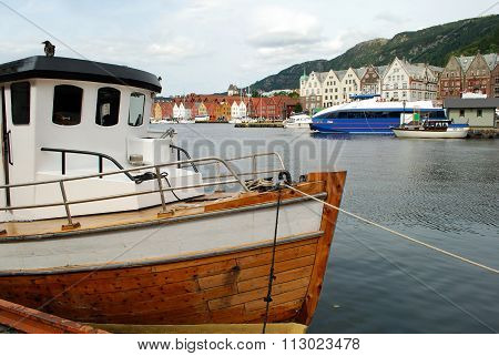 Boat in Bergen Harbor