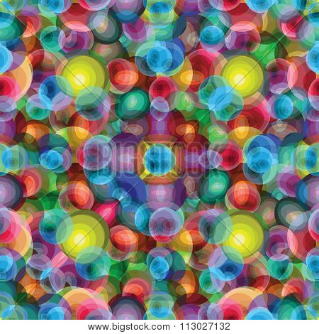 Beautiful Bright Circles Psychedelic Background