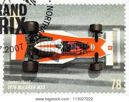 Britain Racing Car Postage Stamp