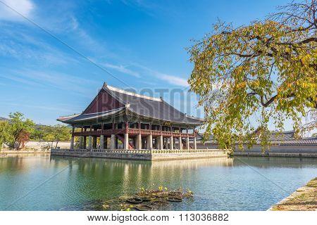 Pavilion At Gyeongbokgung Palace In Seoul ,korea