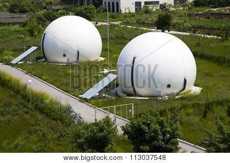 Gas Storage Spheres,  Industrial Storage Facility