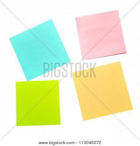 Four Different Color Stickers