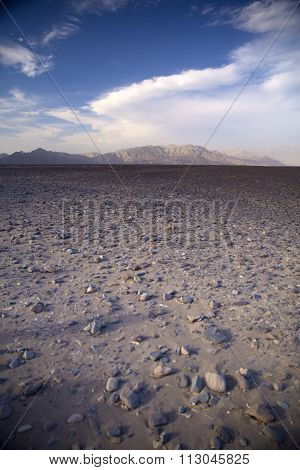 Andes In The Nazca Desert