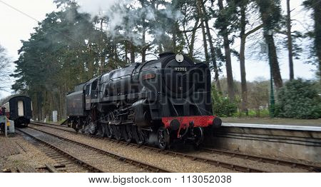 British Railways Standard Class 9F 2-10-0 steam locomotive 92203 Black Prince at  Holt station on t