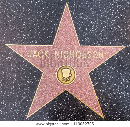 Jack Nicholson Star, Hollywood