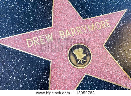 Drew Barrymore Star, Hollywood