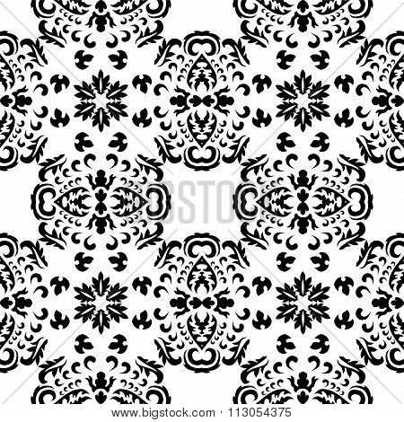 Stock Vector Seamless Orient Floral Pattern