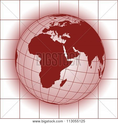Europe And Africa Red