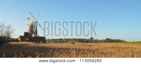 Cley marshes and windmill.