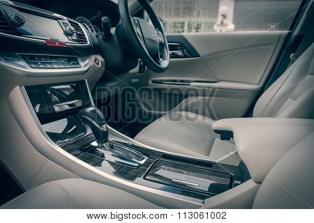 Modern Car Interior, Color Tone Process