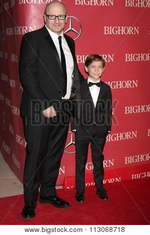PALM SPRINGS - JAN 2:  Lenny Abrahamson, Jacob Tremblay at the 27th Palm Springs International Film Festival Gala at the Convention Center on January 2, 2016 in Palm Springs, CA