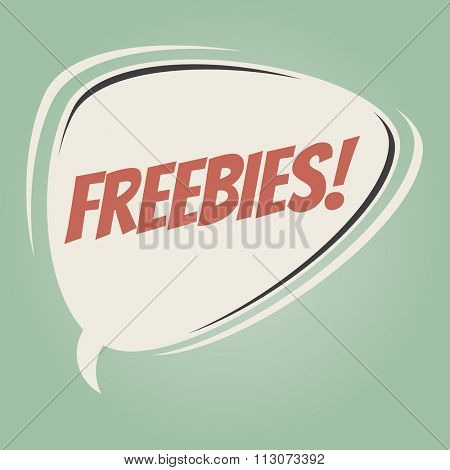 freebies retro speech bubble