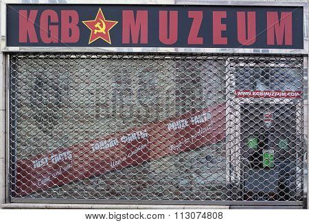 PRAGUE, CZECH REPUBLIC - DECEMBER 21, 2015: Photo of KGB Museum.