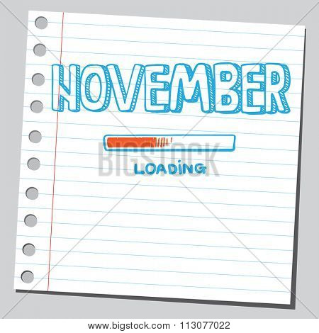 November loading process poster