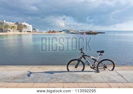 Bike Parked On Pier