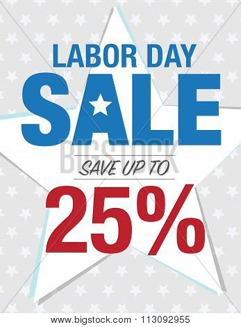 Labor Day Sale Sign