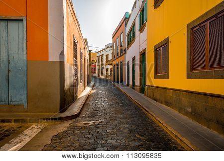 Street view in Santa Maria de Guia town