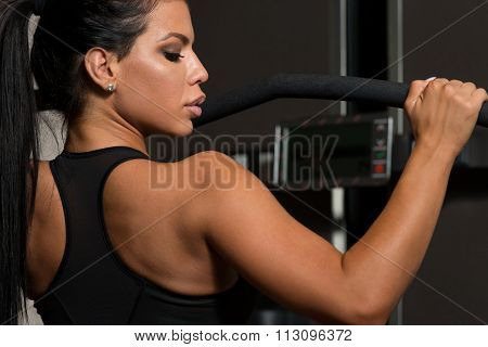 Latina Woman Doing Exercise For Back