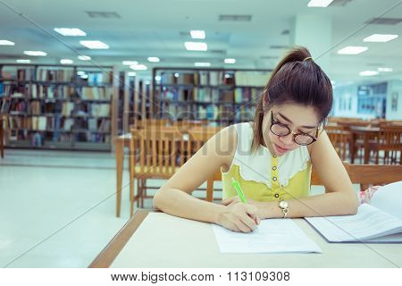 Study Education, Woman Writing A Paper, Working Women