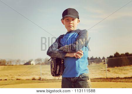 Boy holding a baseball