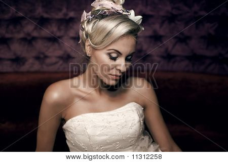Beautiful Girl Face. Bride