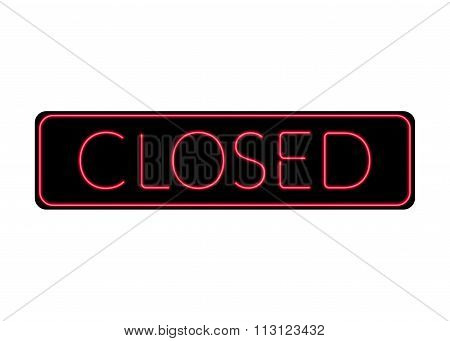 Closed Sign Neon