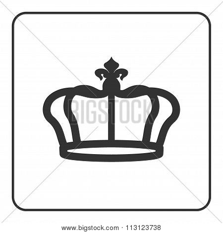 Crown Icon Isolated On White Background