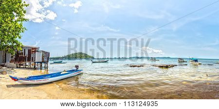 Lunch in a seaside fishing village of Phu Quoc, Vietnam