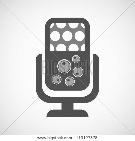 Isolated Microphone Icon With Oocytes